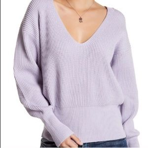 FREE PEOPLE ALLURE V NECK OVERSIZED SWEATER